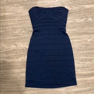 BCBG Strapless Bodycon Dress